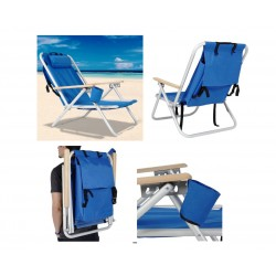 כיסא חוף וקמפינג מתקפל עם תיק נשיאה לגב