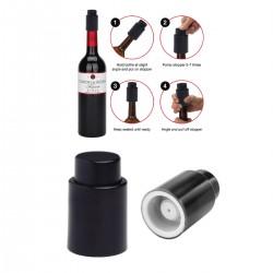 משאבת וואקום ופקק לשמירה על טריות  היין
