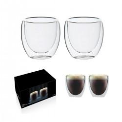 """זוג כוסות זכוכית עם דופן כפולה 250 מ""""ל"""