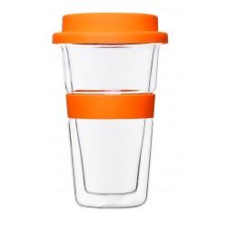 כוס שתיה מזכוכית דופן כפולה לשמירה על החום