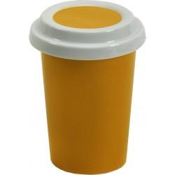 כוס שתיה מפורצלן עםמכסה שהופך לתחתית
