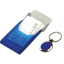 מחזיק מפתחות עם קופסה לכרטיסי ביקור