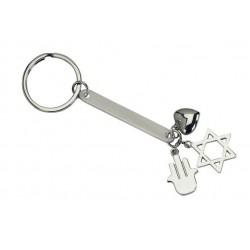 מחזיק מפתחות  ותליוני לב  חמסה ומגן דוד