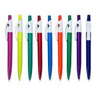 עט ג'ל, קליפס לבן, גוף פלסטיק צבעוני