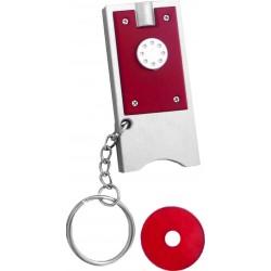 מחזיק מפתחות פנס ומטבע לעגלת סופר