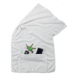 מגבת ספורט עם כיס סגירת רוכסן