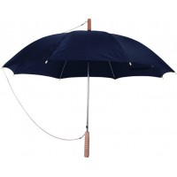 """מטריה """"23 מוט ברזל, ידית עץ"""