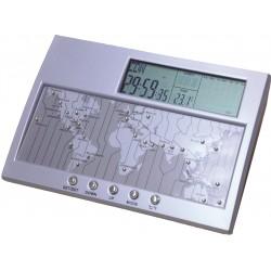 שעון עולם עם תצוגה של תאריכון ומדחום