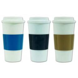 כוס טרמית פלסטית עם דופן כפולה