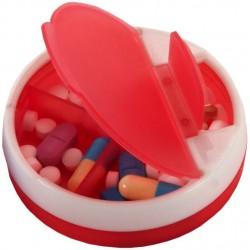 קופסת תרופות עם 4 תאים ושני פתחים
