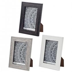 מסגרת לתמונה מעץ וזכוכית עם מעמד