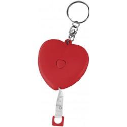 מחזיק מפתחות מטר קפיציבצורת לב