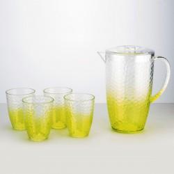 סט מעוצב של קנקן ו 4 כוסות לשתייה קלה
