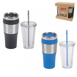 סט כוסות תרמים לשתייה חמה וקרה