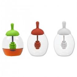כלי זכוכית מעוצב לדבש ורטבים