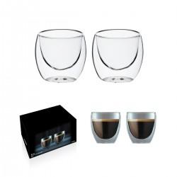 """זוג כוסות זכוכית עם דופן כפולה150 מ""""ל"""