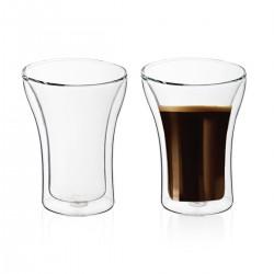"""250 מ""""ל זוג כוסות זכוכית עם דופן כפולה"""