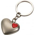 מחזיק מפתחות מתכת בצורת לב