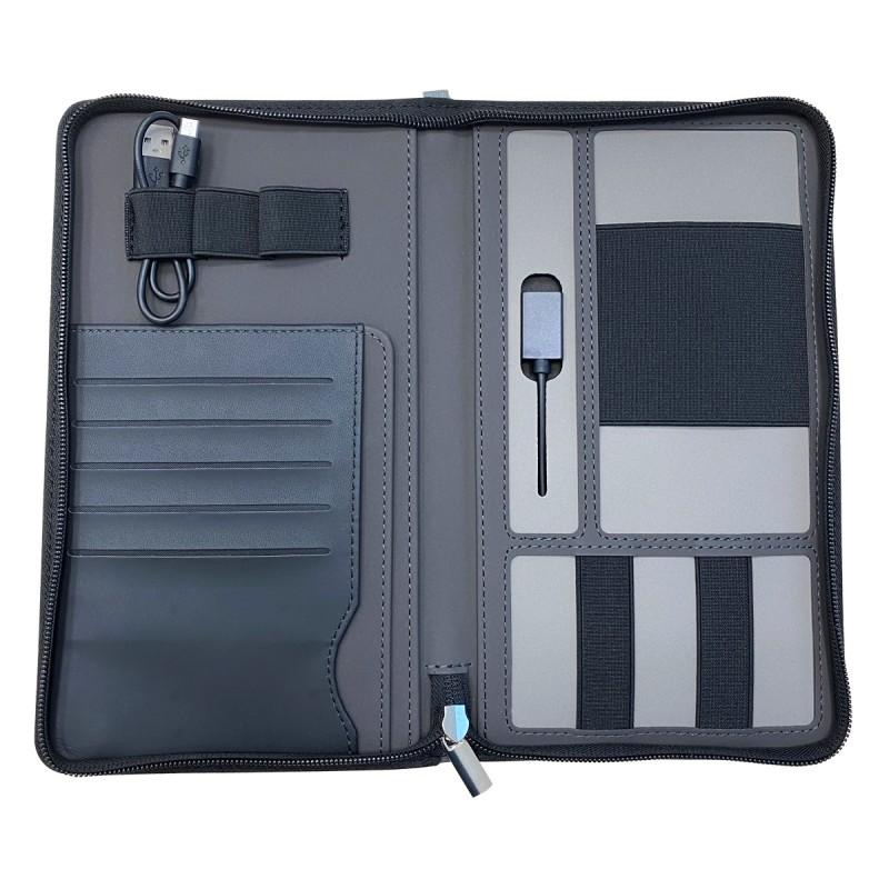 תיק מסמכים עם טעינה אלחוטית ומטען נייד