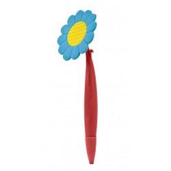 עט כדורי מגומי בצורת פרח