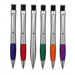 עט כדורי גוף מוכסף