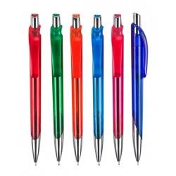 עט ג'ל גוף פלסטיק, מנגנון לחיצה