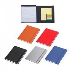 פנקס A5 המכיל דפי שורות נייר ממו ודיגלונים