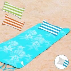 כרית מתנפחת נוחה מבד מגבת מסוג מיקרופייבר , בשלל צבעים.