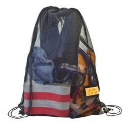 תיק גב מרשת לציוד ספורט וכביסה