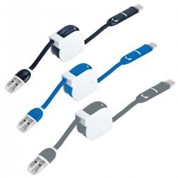 כבל USB מתקפל, 3 מתאמים