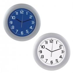 """שעון קיר """" 14 עם מסגרת מפלסטיקורקע פנים מגוון"""