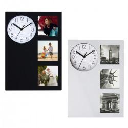 שעון קיר עם 3 מסגרות לתמונות